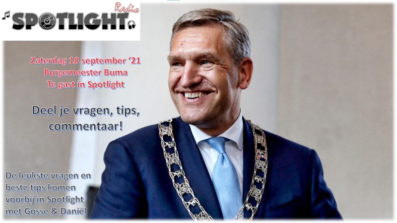 Burgemeester Buma (eindelijk) te gast in Spotlight